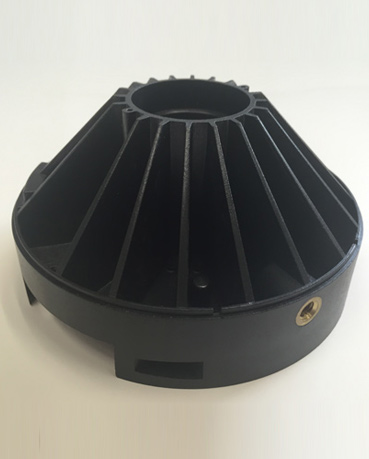 Black Injection Molded Part
